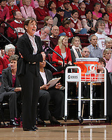 STANFORD, CA - February 12, 2011: Stanford Cardinal's Tara VanDerveer during Stanford's 82-59 victory over UCLA at Maples Pavilion.