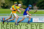 Flor McCarthy Kilmoyley in action against Brian McAuliffe Lixnaw in the Kerry County Senior Hurling championship Final between Kilmoyley and Lixnaw at Austin Stack Park on Sunday.