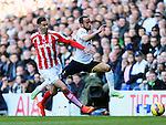 Tottenham's Andros Townsend tussles with Stoke's Geoff Cameron<br /> <br /> - Barclays Premier League - Tottenham Hotspur vs Stoke City- White Hart Lane - London - England - 9th November 2014  - Picture David Klein/Sportimage
