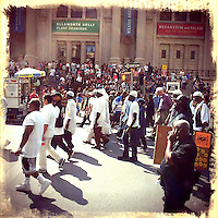 People take part in a march protesting against the Stop-and-Frisk polices in New York  Photo by Eduardo Munoz Alvarez / VIEW..PICTURE TAKEN WITH A MOBILE DEVICE.