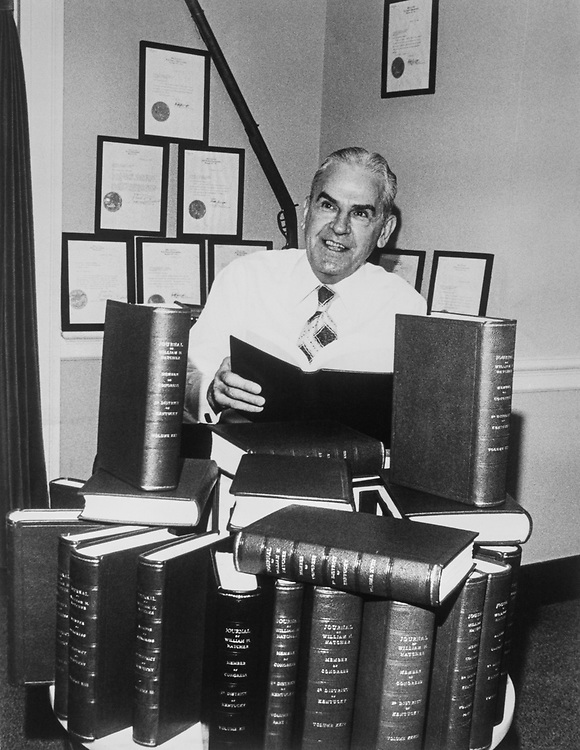 Rep. William Huston Natcher, D-Ky., in his office. (Photo by CQ Roll Call)