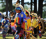 Native American dancers continue their traditional ways at pow wows.