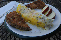 NWA Democrat-Gazette file/FLIP PUTTHOFF<br /> Omelets in a bag are a fun and easy     Dec. 3, 2015   way for holiday company to fix a hot breakfast. They're ideal for the campsite or the kitchen.