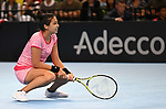 Zarins Diyas (Kazakhstan) looks dejected. Rubber 4. Great Britain v Kazakhstan. World group II play-off. BNP Parebas Fed Cup. Copper Box arena. Queen Elizabeth Olympic Park. Stratford. LondonUK. 21/04/2019. ~ MANDATORY Credit Garry Bowden/Sportinpictures - NO UNAUTHORISED USE - 07837 394578