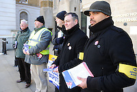 PCS National Strike. 8-3-10 The picket line at the Department of Health.