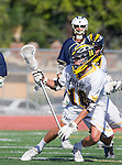 Tustin, CA 04/23/16 - Tony Crognale (Foothill #18) in action during the non-conference CIF varsity lacrosse game between La Costa Canyon and Foothill at Tustin Union High School.  Foothill defeated La Costa Canyon 10-9 in sudden death overtime.