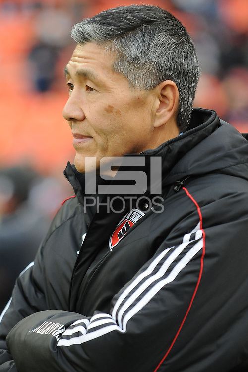 D.C. United General Partner Will Chang. D.C. United tied The Houston Dynamo 1-1 but lost in the overall score 4-2 in the second leg of the Eastern Conference Championship at RFK Stadium, Sunday November 18, 2012.