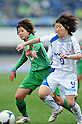(L to R) Nanase Kiryu (Beleza), Yuri Saito (AS Elfen Sayama),  .APRIL 22, 2012 - Football/Soccer : 2012 Plenus Nadeshiko League, 2nd sec match between NTV Beleza 3-0 AS Elfen Sayama FC at Komazawa Olympic Park Stadium, Tokyo, Japan. (Photo by Jun Tsukida/AFLO SPORT) [0003] .
