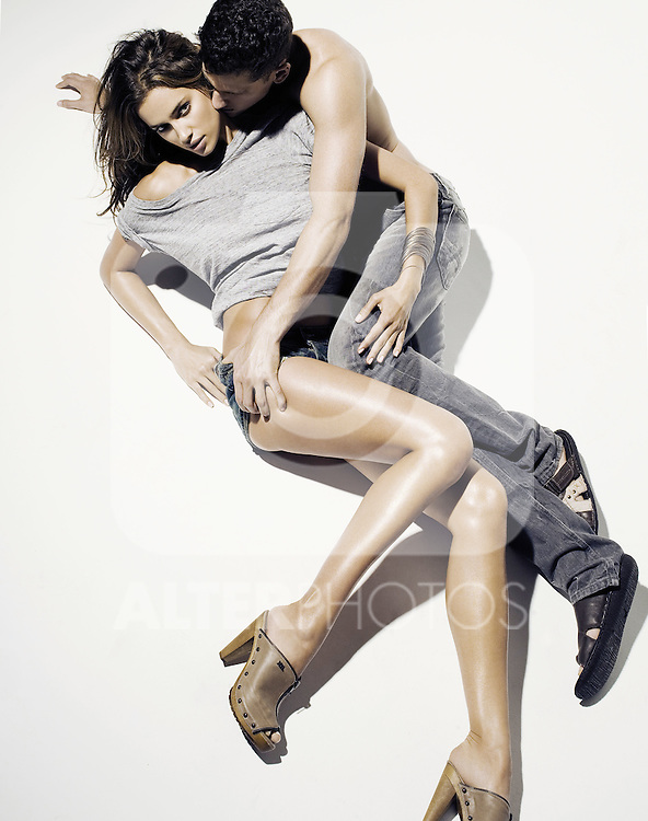 Irina Shayk and Artur Sales new models of XTI shoes. ..Photo: xti/ ALFAQUI...