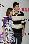 LOS ANGELES, CA- MAY 05: Actress Aubrey Plaza (L) and actor Blake Lee arrive at Tribeca Film's 'Palo Alto' - Los Angeles Premiere at the Director's Guild of America on May 5, 2014 in Los Angeles, California.