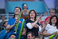 Bratislava, Slovenia, April 23, 2017,  FedCup: Slovakia-Netherlands,seccond rubber sunday,  Slovenian supporters<br /> Photo: Tennisimages/Henk Koster