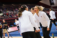 STANFORD, CA - February 18, 2019: Stanford falls to Oregon State 195.800 to 197.125 at Maples Pavilion