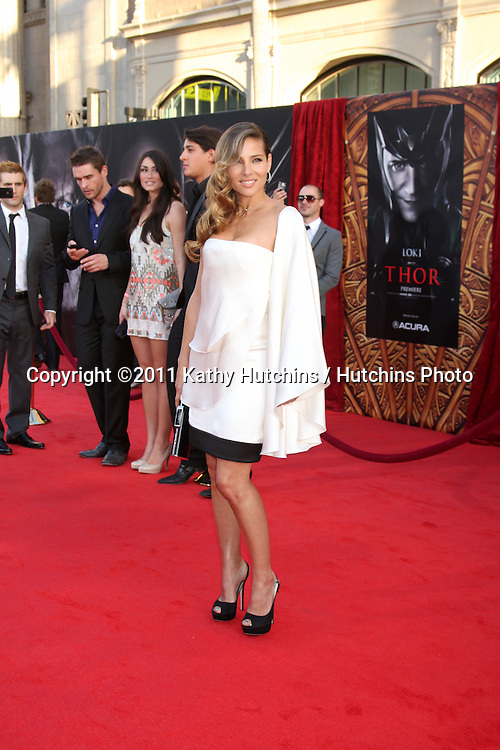 """LOS ANGELES - MAY 2:  Elsa Pataky arriving at the """"Thor"""" World Premiere at El Capitan theater on May 2, 2011 in Los Angeles, CA"""