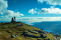 The Firth of Clyde from Ben Donich, the Arrochar Alps, Loch Lomond and the Trossachs National Park, Argyll & Bute