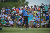 Brandon Harkins (USA) watches his tee shot on 3 during round 3 of The Players Championship, TPC Sawgrass, at Ponte Vedra, Florida, USA. 5/12/2018.<br /> Picture: Golffile | Ken Murray<br /> <br /> <br /> All photo usage must carry mandatory copyright credit (&copy; Golffile | Ken Murray)