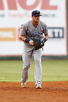Pensacola Blue Wahoo third baseman Mitch Nay (28) during a game against the Chattanooga Lookouts on July 27, 2018 at AT&T Field in Chattanooga, Tennessee. (Andy Mitchell/Four Seam Images)