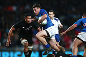 16th June 2017, Eden Park, Auckland, New Zealand; International Rugby Pasifika Challenge; New Zealand versus Samoa;  Kieron Fonotia of Samoa on the charge
