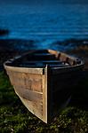 Slaney river cot, or handmade wooden estuary boat, Wexford, Ireland. (c) 2015 Dave Walsh