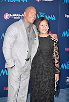 "HOLLYWOOD, CA - NOVEMBER 14: Dwayne Johnson and Ata Johnson attend the AFI FEST 2016 Presented By Audi - Premiere Of Disney's ""Moana"" at the El Capitan Theatre in Hollywood, California on November 14, 2016. Credit: Koi Sojer/Snap'N U Photos/MediaPunch"