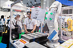 A robot Daido performs during the FOOMA Japan International Food Machinery and Technology Exhibition at Tokyo Big Sight on June 11, 2015, Tokyo, Japan. More than 200 companies showed off the latest technology for the food processing industry. The exhibition is held from June 9 to 12. (Photo by Rodrigo Reyes Marin/AFLO)