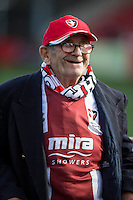 A Cheltenham fan ahead of the Sky Bet League 2 match between Cheltenham Town and Crawley Town at the LCI Rail Stadium, Cheltenham, England on 15 October 2016. Photo by Mark  Hawkins.
