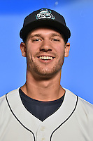 Asheville Tourists pitcher Jack Wynkoop (11) poses for a photo at Story Point Media on April 5, 2016 in Asheville, North Carolina. (Tony Farlow/Four Seam Images)