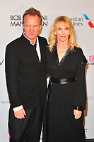 NEW YOKR, NY - NOVEMBER 7: Sting and Trudie Styler at The Elton John AIDS Foundation's Annual Fall Gala at the Cathedral of St. John the Divine on November 7, 2017 in New York City. Credit:John Palmer/MediaPunch /NortePhoto.com