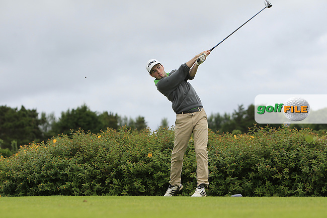 Eamonn O'Driscoll (FRA) on the 18th tee during R1 of the 2016 Connacht U18 Boys Open, played at Galway Golf Club, Galway, Galway, Ireland. 05/07/2016. <br /> Picture: Thos Caffrey | Golffile<br /> <br /> All photos usage must carry mandatory copyright credit   (&copy; Golffile | Thos Caffrey)