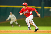 Landon Appling #1 of the Houston Cougars takes off for third base against the Texas A&M Aggies at Minute Maid Park on March 6, 2011 in Houston, Texas.  Photo by Brian Westerholt / Four Seam Images