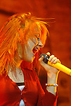 Hayley Williams of Paramore sings during the band's opening slot for No Doubt at the Cynthia Woods Mitchell Pavillion Sunday May 31,2009.(Dave Rossman/For the Chronicle)