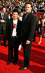 Actors Jet Li (L) and Brendan Fraser arrive at the 2008 ESPY Awards held at NOKIA Theatre L.A. LIVE on July 16, 2008 in Los Angeles, California.