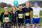Mark Kells, Delores Duffy, Kevin Murphy, Francis McManus and John Mcmanus runners at the Kerry's Eye Tralee, Tralee International Marathon and Half Marathon on Saturday.