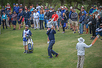 Matt Kuchar (USA) chips on to 9 during Round 2 of the Valero Texas Open, AT&amp;T Oaks Course, TPC San Antonio, San Antonio, Texas, USA. 4/20/2018.<br /> Picture: Golffile | Ken Murray<br /> <br /> <br /> All photo usage must carry mandatory copyright credit (&copy; Golffile | Ken Murray)