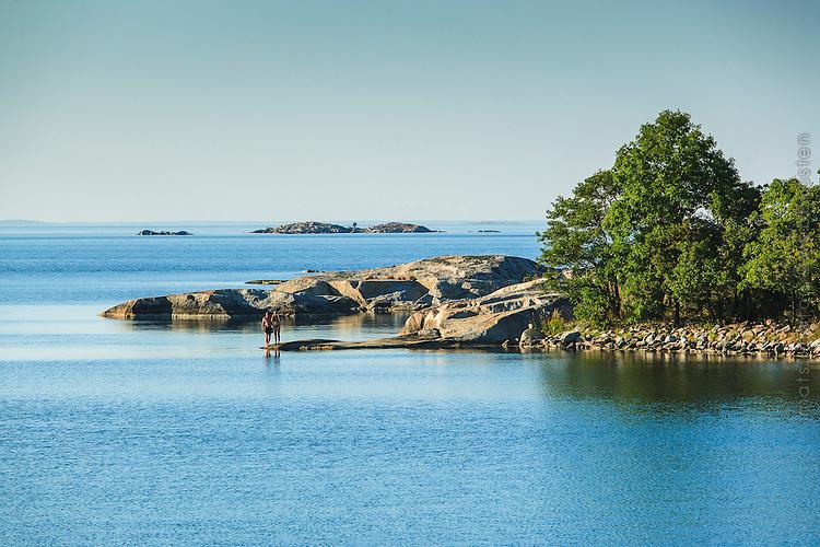 Lugnt fint sommarväder vid Kallskär i ytterskärgården i Stockholms skärgård/ Archipelago