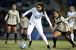 21 November 2014: North Carolina's Alex Kimball (47). The University of North Carolina Tar Heels hosted the University of Colorado Buffaloes at Fetzer Field in Chapel Hill, NC in a 2014 NCAA Division I Women's Soccer Tournament Second Round match. UNC won the game 1-0 in overtime.