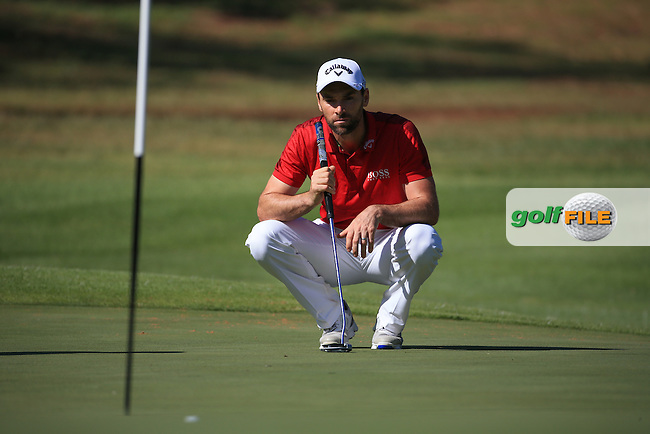 Oliver Wilson (ENG) putting on 17 during the completion of Round Two of the 2016 BMW SA Open hosted by City of Ekurhuleni, played at the Glendower Golf Club, Gauteng, Johannesburg, South Africa.  09/01/2016. Picture: Golffile | David Lloyd<br /> <br /> All photos usage must carry mandatory copyright credit (&copy; Golffile | David Lloyd)