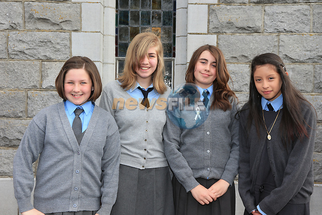 Alice Morgan, Helen McTeague, Grainne Reilly, Jade Brady at confirmation in Duleek..Picture:  www.newsfile.ie ..