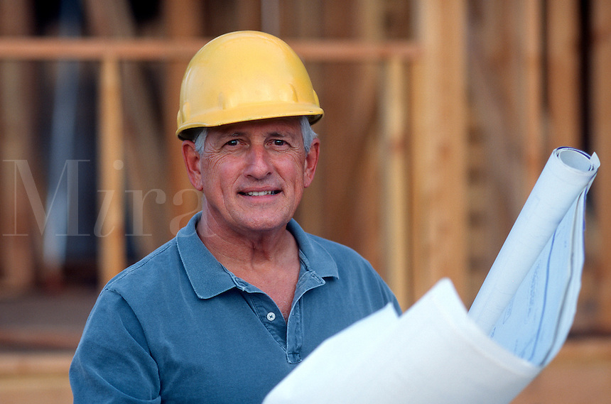 Builder at site of home construction<br />
