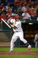 Springfield Cardinals third baseman Patrick Wisdom (5) at bat during a game against the Frisco RoughRiders  on June 4, 2015 at Hammons Field in Springfield, Missouri.  Frisco defeated Springfield 8-7.  (Mike Janes/Four Seam Images)
