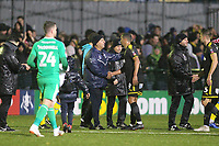 Tom Loizou of Haringey at the final Whistle during Haringey Borough vs AFC Wimbledon, Emirates FA Cup Football at Coles Park Stadium on 9th November 2018