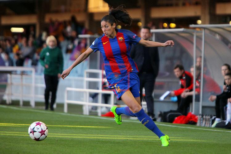 UEFA Women's Champions League 2016/2017.<br /> Quarter Finals.<br /> FC Barcelona vs FC Rosengard: 2-0.<br /> Leila Ouahabi.