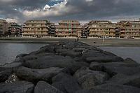 Ostia, 2 Novembre, 2017. Un tratto della spiaggia di Ostia