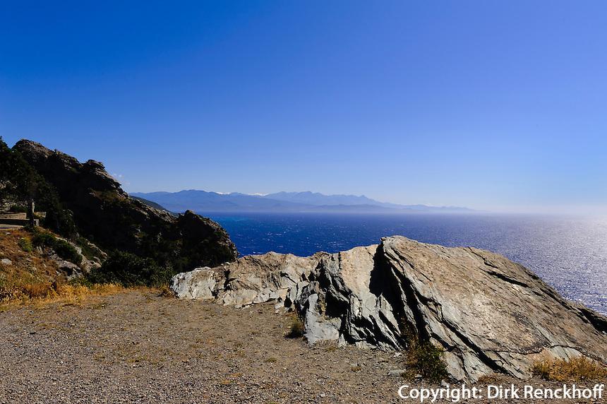Küste nördlich von Canarii auf Cap Corse, Korsika, Frankreich