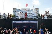 IMSA WeatherTech SportsCar Championship<br /> AMERICA'S TIRE 250<br /> Mazda Raceway Laguna Seca<br /> Monterey, CA USA<br /> Sunday 24 September 2017<br /> 93, Acura, Acura NSX, GTD, Andy Lally, Katherine Legge, 63, Ferrari, Ferrari 488 GT3, GTD, Alessandro Balzan, Christina Nielsen, 73, Porsche, Porsche 911 GT3 R, GTD, Patrick Lindsey, Jorg Bergmeister, podium, champagne<br /> World Copyright: Michael L. Levitt<br /> LAT Images