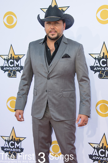 Jason Aldean attends the 50th Academy Of Country Music Awards at AT&T Stadium on April 19, 2015 in Arlington, Texas.