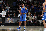 WINSTON-SALEM, NC - JANUARY 23: Duke's Trevon Duval. The Wake Forest University Demon Deacons hosted the Duke University Blue Devils on January 23, 2018 at Lawrence Joel Veterans Memorial Coliseum in Winston-Salem, NC in a Division I men's college basketball game. Duke won the game 84-70.
