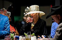 LOUISVILLE, KENTUCKY - MAY 04: A spectator drinks an Oaks Lily during Thurby at Churchill Downs on May 4, 2017 in Louisville, Kentucky. (Photo by Scott Serio/Eclipse Sportswire/Getty Images)