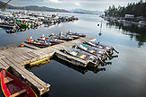 USA, Alaska, Ketchikan, fishing boats moored in the Behm Canal near Clarence Straight, Knudsen Cove along the Tongass Narrows