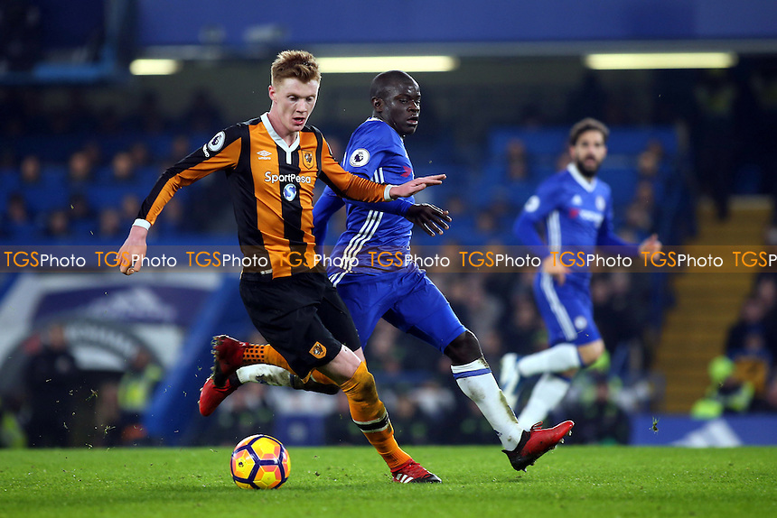 Sam Clucas of Hull City in action during Chelsea vs Hull City, Premier League Football at Stamford Bridge on 22nd January 2017