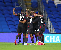 4th February 2020; Cardiff City Stadium, Cardiff, Glamorgan, Wales; English FA Cup Football, Cardiff City versus Reading; Reading players celebrate after Andy Rinomhota of Reading scores the equalizer making it 2-2 in the 79th minute